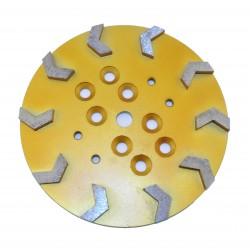 Arrow segment Gold Floor Grinding head 10″ / 250mm THOR-GHA01