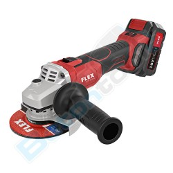 FLEX Cordless angle grinder with variable speed and brake 18.0 V L12518.0EC