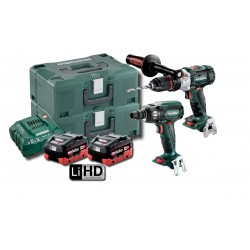 Metabo 2 PCE LiHD Impact Drill Wrench Combo Kit 400NM AU68902055 - SB SSW 400 BL M HD 5.5