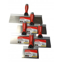 Goldblatt Taping Knife 300mm Stainless Steel with Hammer End Soft Grip GBT05642