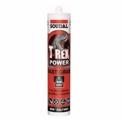 Soudal T-Rex 290ml Power Fast Grab Steel Grey 121970