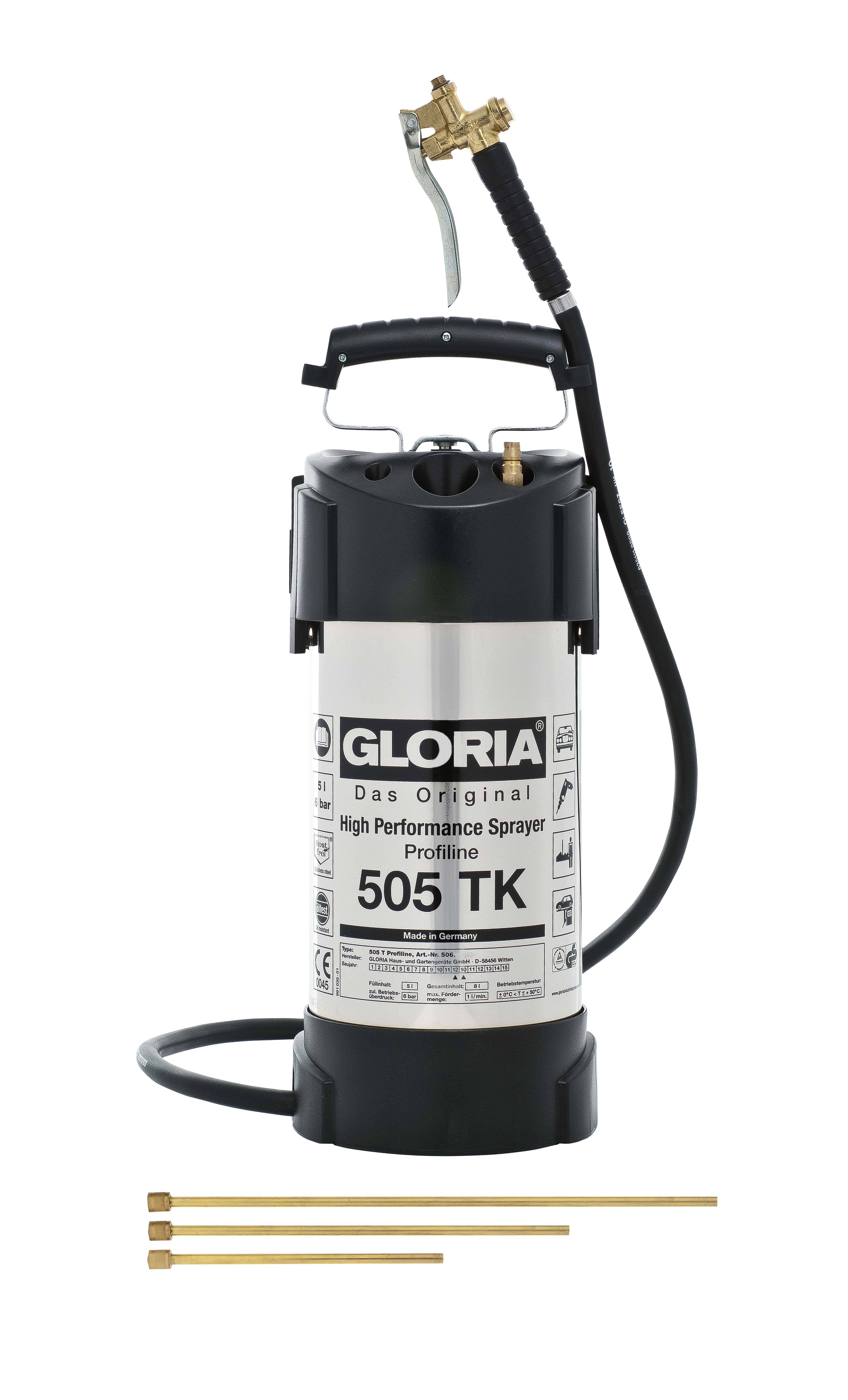 Gloria Heavy Duty Stainless Steel Sprayer 10 0l 510tk